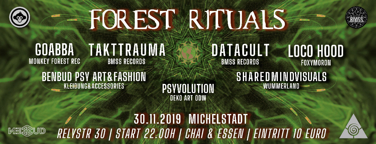 Party Flyer Forest Rituals 30 Nov '19, 22:00