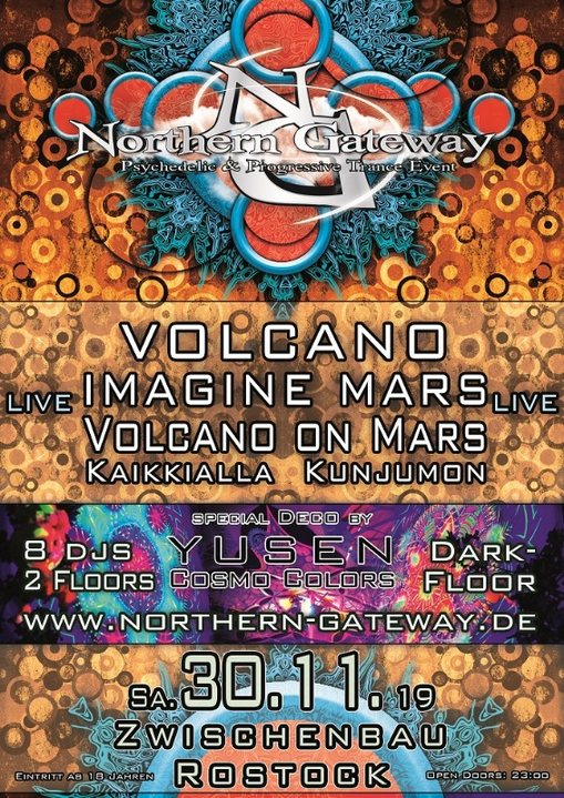 Northern Gateway - Volcano & Imagine Mars LIVE + extra Darkfloor 30 Nov '19, 23:00