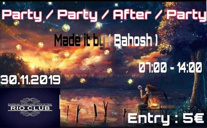 Party Flyer Party/Party/After/Party 30 Nov '19, 07:00