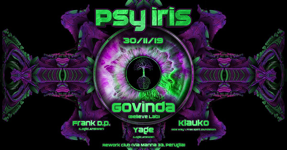 Party Flyer Psy Iris 30 Nov '19, 22:30