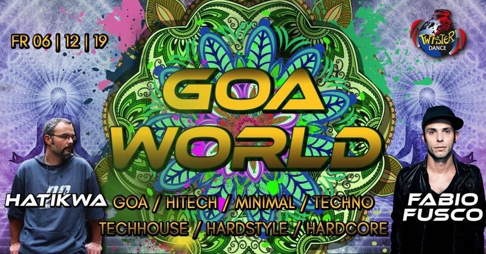 Party Flyer Goa World   Hatikwa   Fabio Fusco   4 Floors 6 Dec '19, 22:00