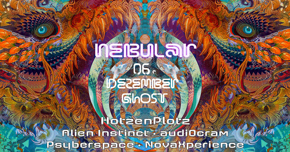 Party Flyer Nebular ॐ Goa & Psytrance 6 Dec '19, 23:30