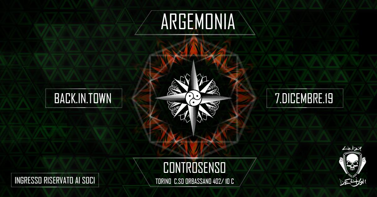 Argemonia Back in Town 7 Dec '19, 23:00