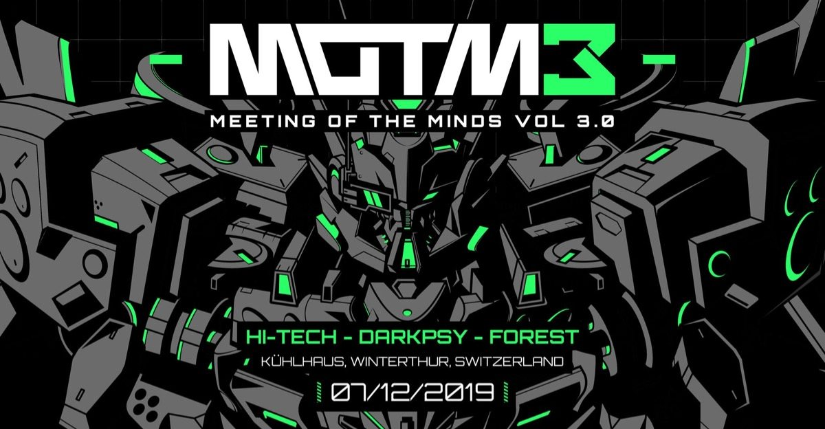 Party Flyer Meeting of the Minds 3.0 7 Dec '19, 22:00