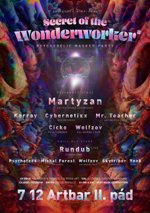 SECRET OF THE WONDERWORKER VIII. - PSYCHEDELIC MASKED PARTY 7 Dec '19, 21:00