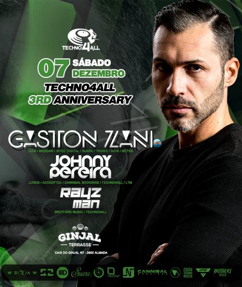 Techno4All 3rd Anniversary - Gaston Zani (ARG) - Free Party 7 Dec '19, 23:00