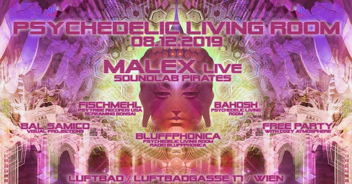 Party Flyer Psychedelic Living Room 8 Dec '19, 22:00