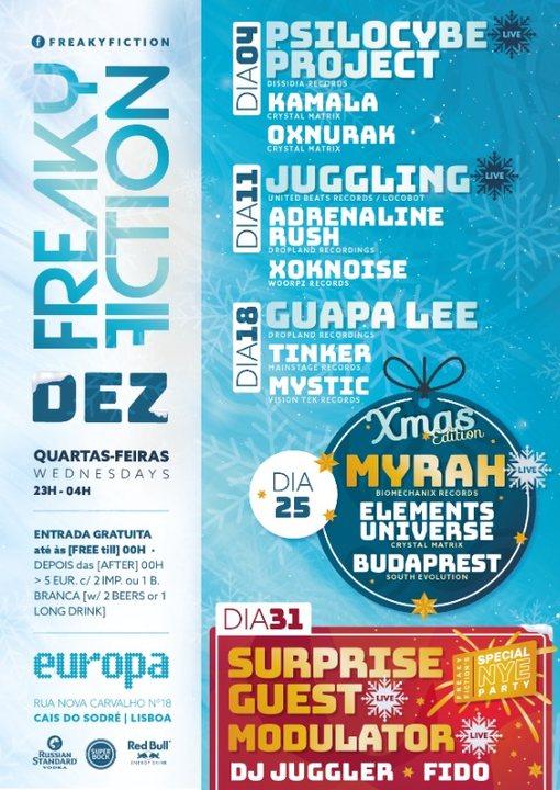 Party Flyer FREAKY FICTION 11 Dec '19, 23:00