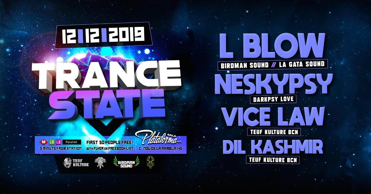 Party Flyer Trance State 12 Dec '19, 23:30