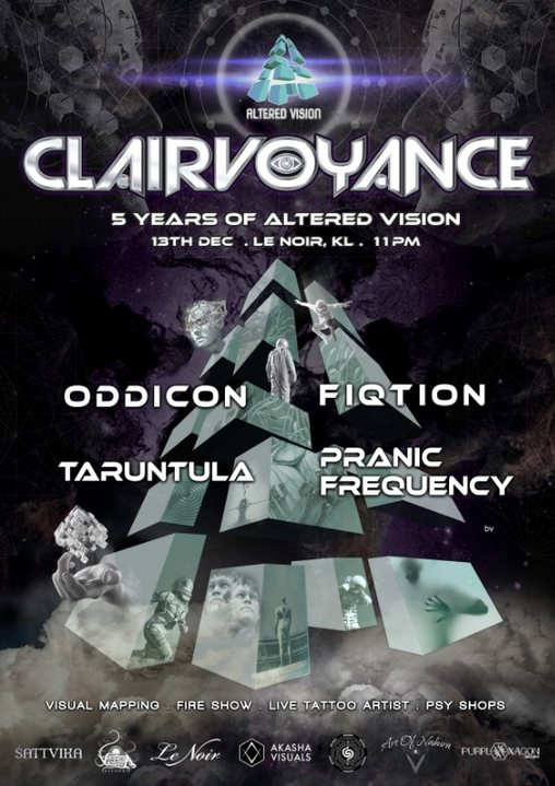 Party Flyer Altered Vision pres. Clairvoyance 5 years of Altered Vision 13 Dec '19, 23:00