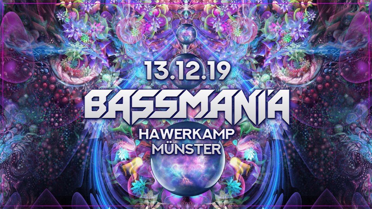 Party Flyer Bassmania 13 Dec '19, 23:00