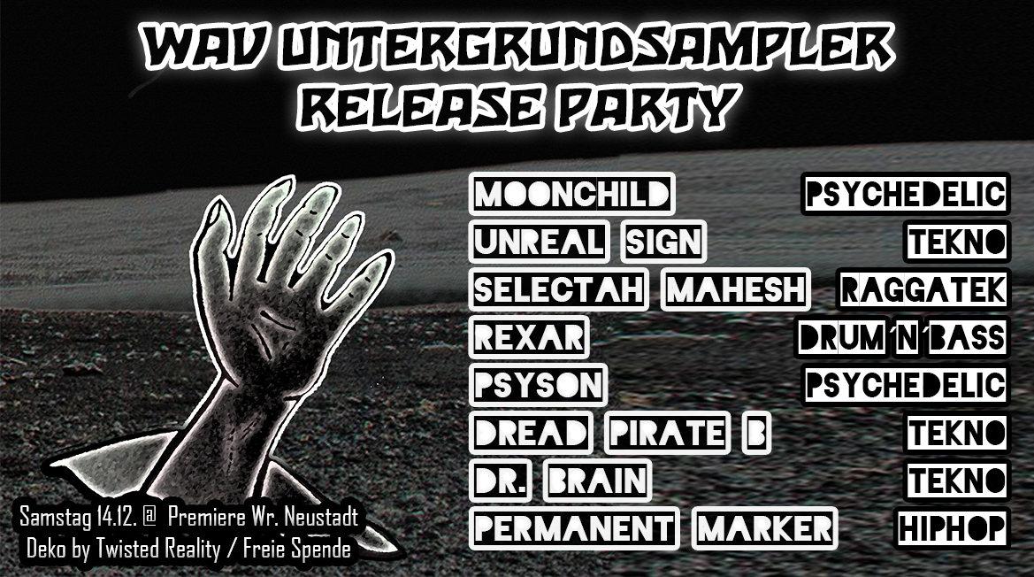 Party Flyer WAV Untergrundsampler Release Party 14 Dec '19, 22:00