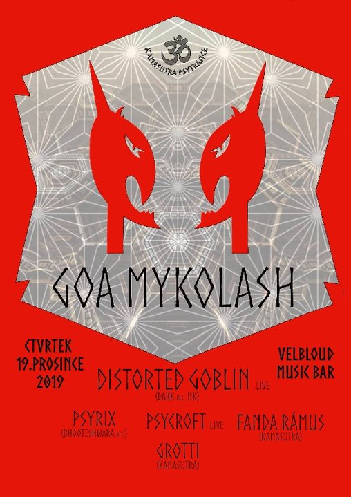 Party Flyer GoaMykoLash w Distorted Goblin 19 Dec '19, 20:00