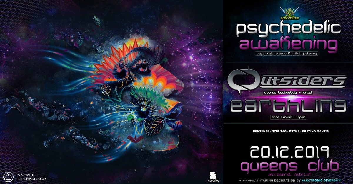 Party Flyer Psybox - Psychedelic Awakening with Outsiders & Earthling 20 Dec '19, 22:00