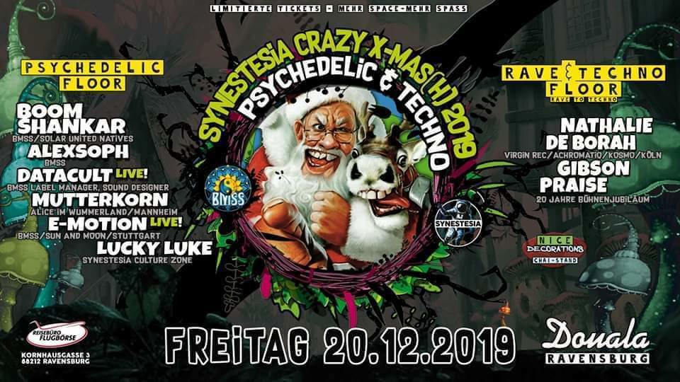 Party Flyer Synestesia We Are Family - X-Mas-Edition 20 Dec '19, 22:00