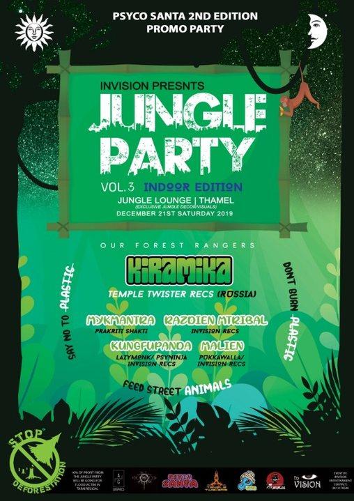 Party Flyer Jungle Party vol.3 21 Dec '19, 20:00