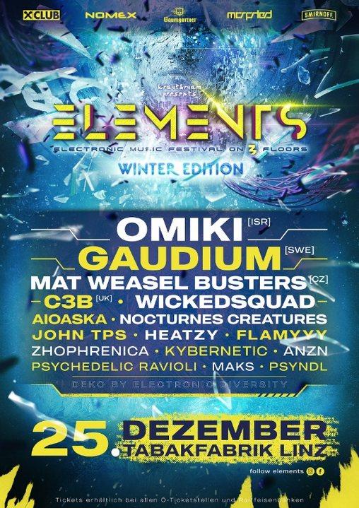 ELEMENTS WINTER FESTIVAL 25 Dec '19, 21:00
