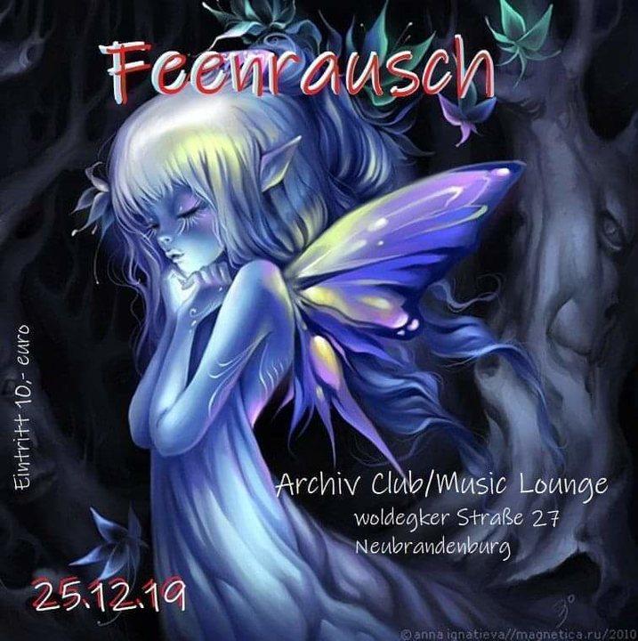 """Party Flyer Feenrausch """" Drifting bass """" 25 Dec '19, 22:00"""