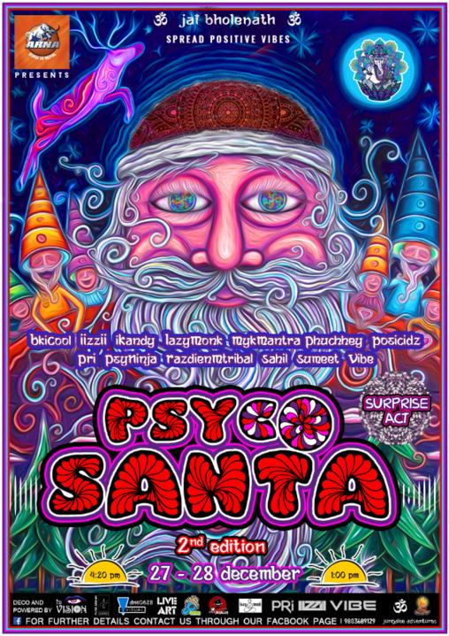 Party Flyer Psycho Santa Vol.2 27 Dec '19, 17:00