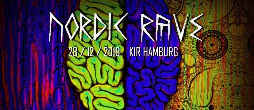 Party Flyer Nordic Rave : Psychedelic birthday bash im KIR Hamburg 28 Dec '19, 22:00
