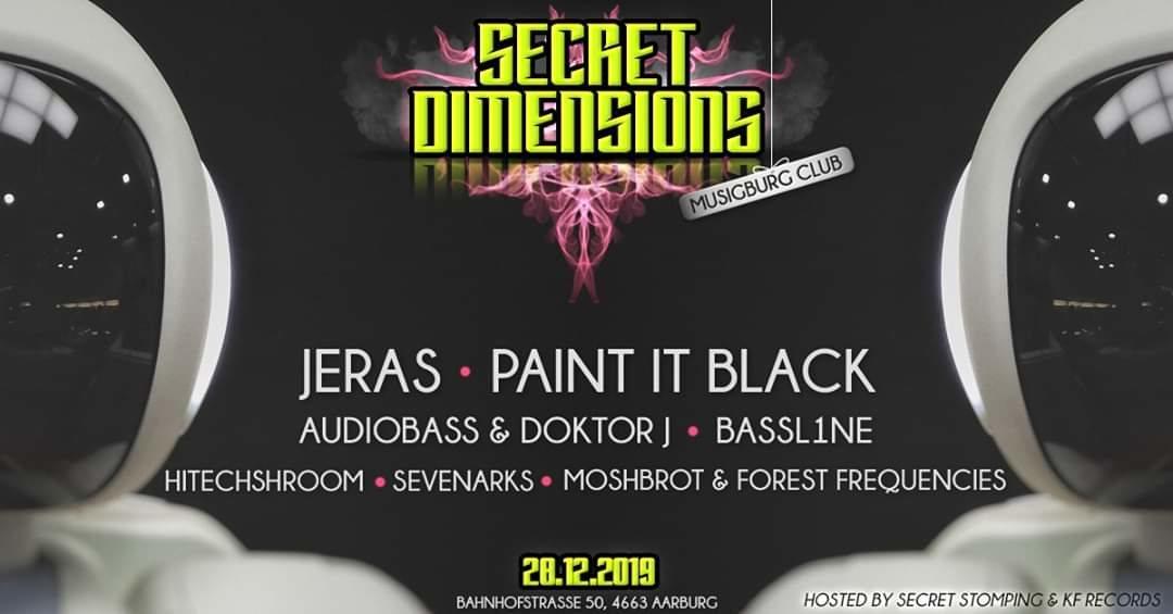 Party Flyer Secret Dimensions 28 Dec '19, 22:00