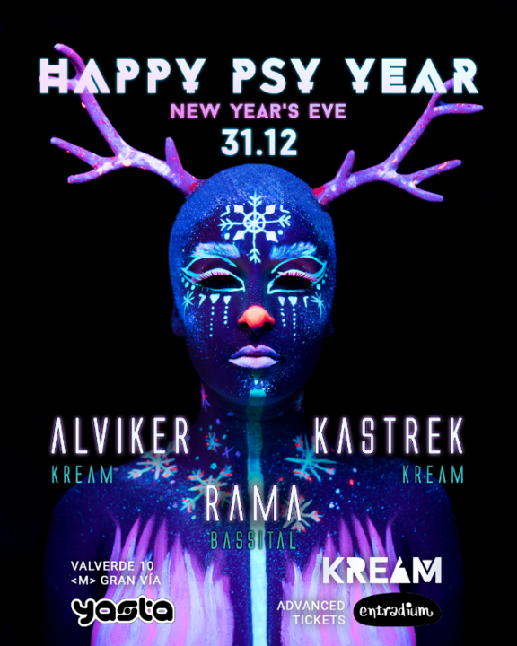 Party Flyer Happy Psy Year by KREAM 31 Dec '19, 23:30