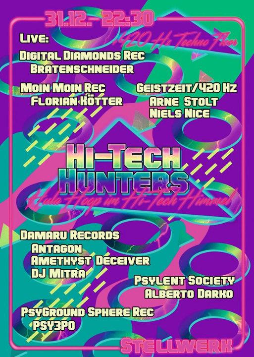 Party Flyer Hi-Tech Hunters 31 Dec '19, 22:00