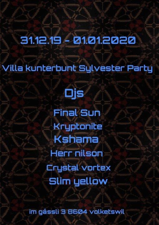 Villa Kunterbunt Sylvester Party 2019 31 Dec '19, 20:00