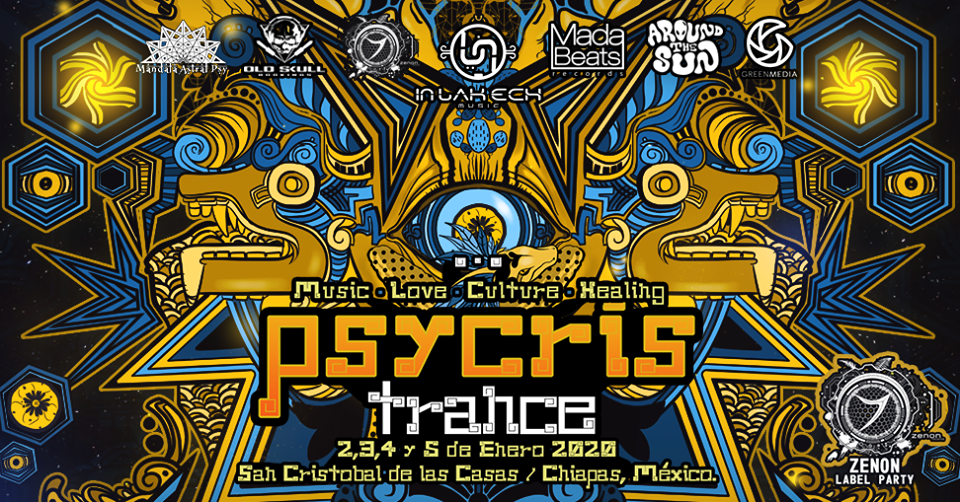Party Flyer PSYCRISTRANCE 2020 ZENON LABEL PARTY 2 Jan '20, 18:30