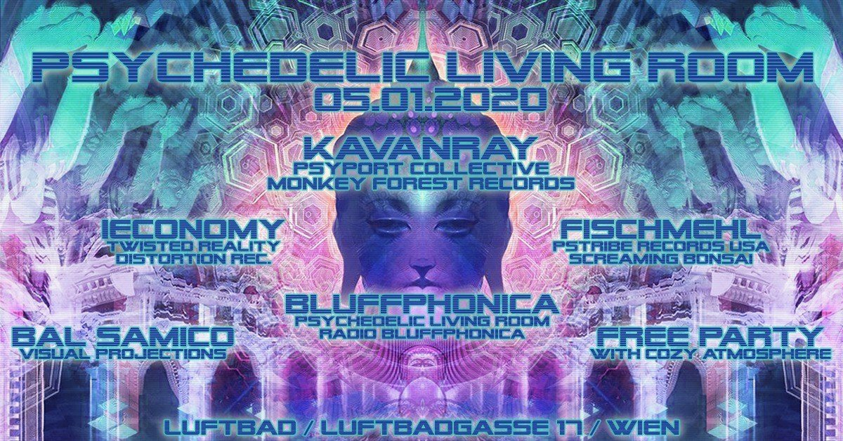 Party Flyer Psychedelic Living Room 5 Jan '20, 22:00