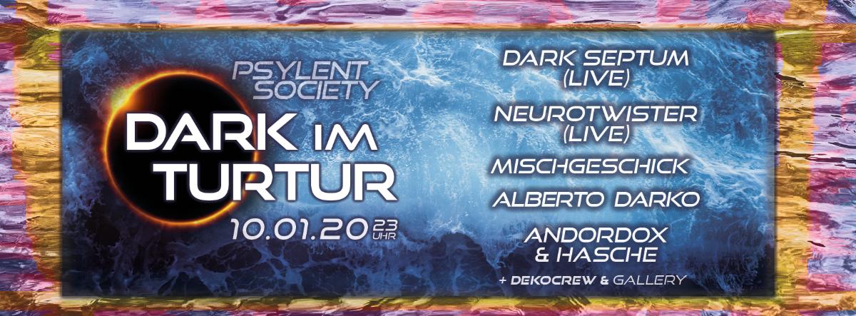 Party Flyer Dark im Turtur #3 10 Jan '20, 22:00