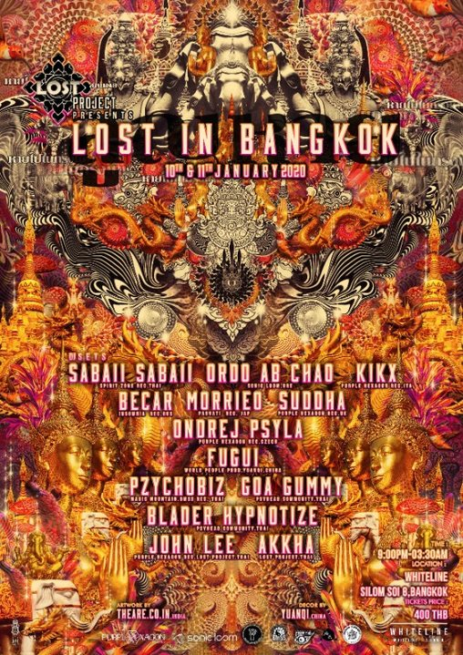 Party Flyer Lost project presents Lost in Bangkok 2020 10 Jan '20, 20:00