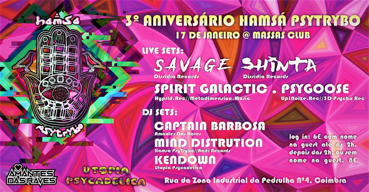 Hamsá Psytrybo 3º Aniversario at Massas Club // Parte 1 17 Jan '20, 23:30
