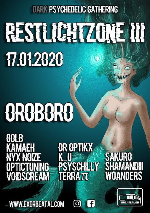 Party Flyer Restlichtzone III / OROBORO 17 Jan '20, 22:00