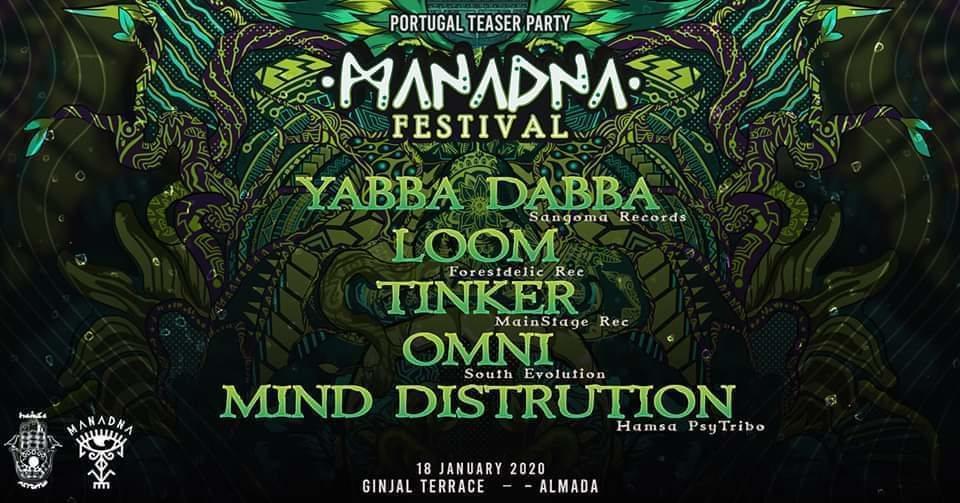 Party Flyer Manadna Festival 2020 - Teaser Party Portugal - 18 Jan '20, 23:00