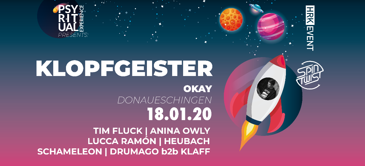 PsyRitual Experience pres. Klopfgeister (live) 18 Jan '20, 22:00