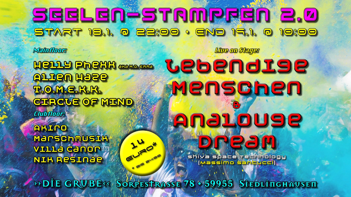 Party Flyer Seelen-Stampfen 2.0 18 Jan '20, 22:00