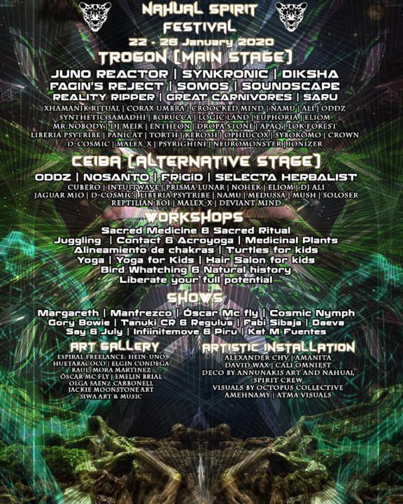 Party Flyer Nahual Spirit Festival (Costa Rica) 22 Jan '20, 12:00