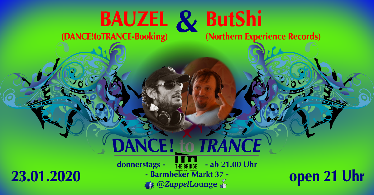 Party Flyer DANCE! to TRANCE 23 Jan '20, 21:00