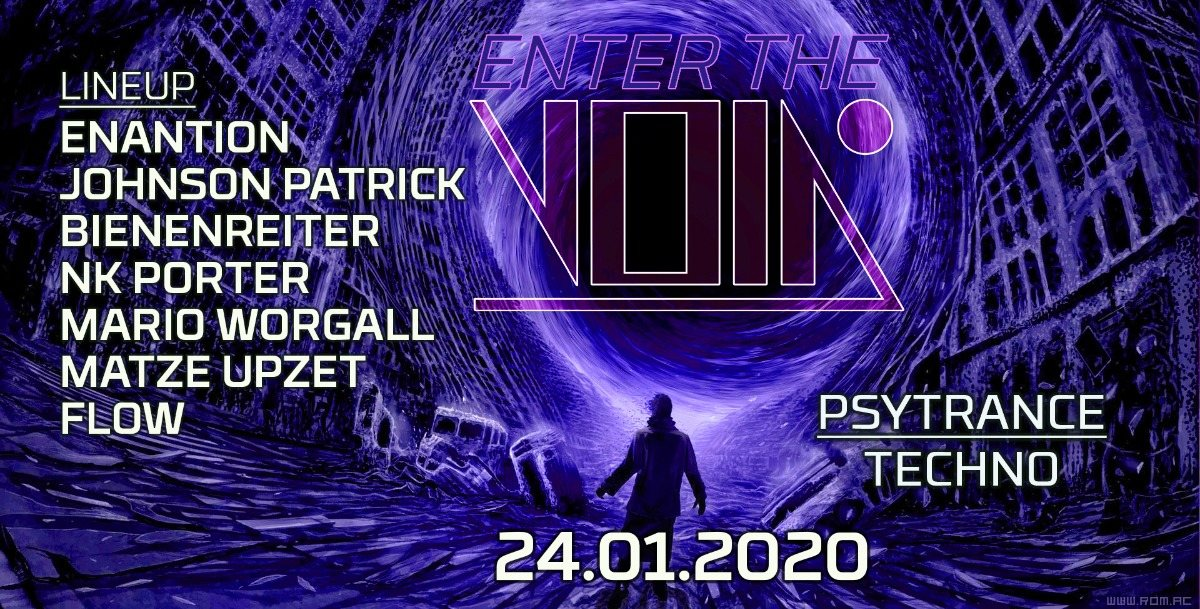 Party Flyer Enter the Void 24 Jan '20, 23:00