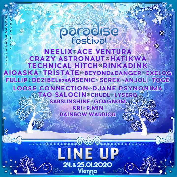 Party Flyer PARADISE WINTER FESTIVAL 2020 24 Jan '20, 21:00