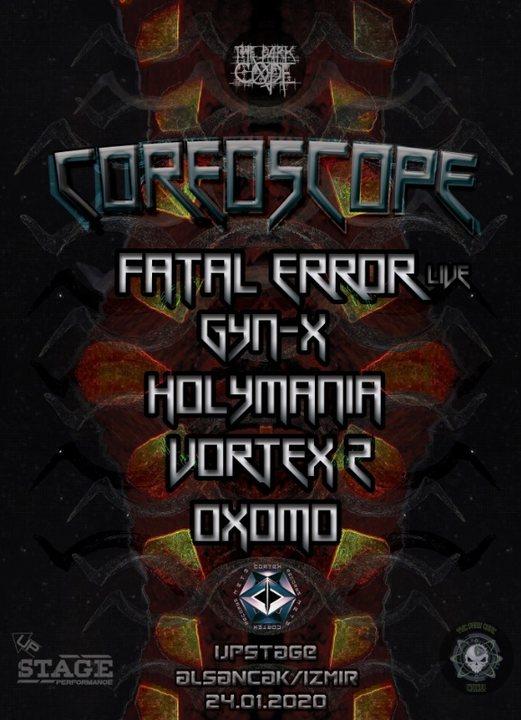 Party Flyer TheDarkCode COREOSCOPE (Izmir) 24 Jan '20, 21:00