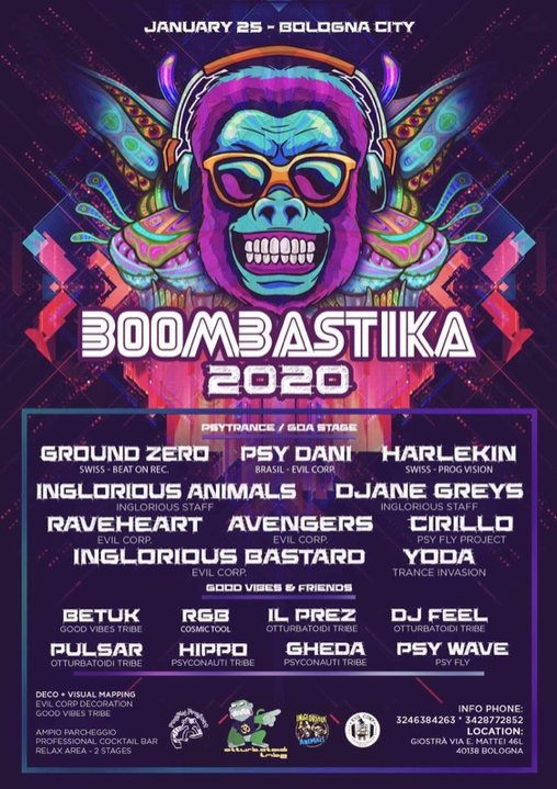 Party Flyer Boombastika 2020 - 2 stage 25 Jan '20, 22:30