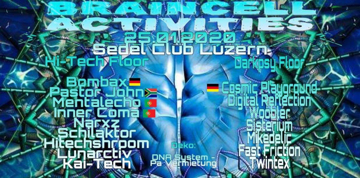 Party Flyer Braincell Activities 25 Jan '20, 21:00