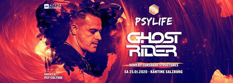 Party Flyer GHOST RIDER - Kantine Salzburg 25 Jan '20, 22:00
