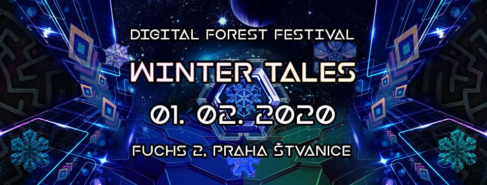 Party Flyer Digital Forest Festival - Winter Tales 1 Feb '20, 21:30