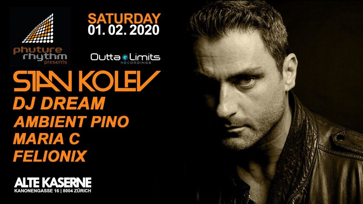 Party Flyer Phuture Rhythm presents: STAN KOLEV 1 Feb '20, 23:00