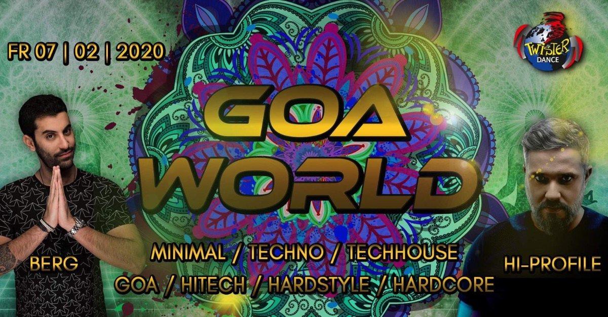 Party Flyer Goa World | 4 Floors | Hi Profile | Berg 7 Feb '20, 22:00