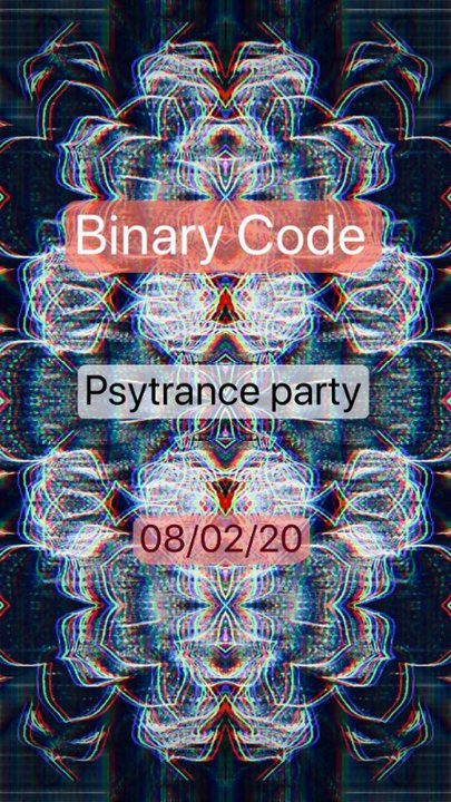 Party Flyer Binary Code party 8 Feb '20, 21:00