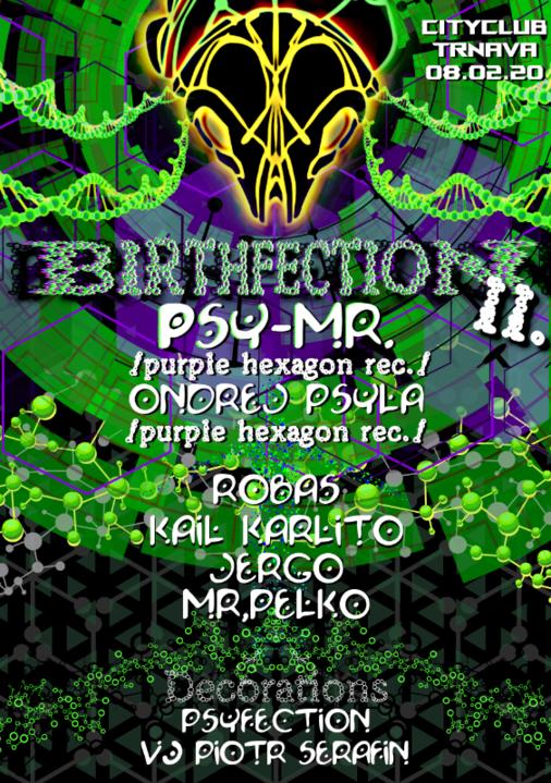 Party Flyer BirthFection II/w.PSY-MR. 8 Feb '20, 21:00